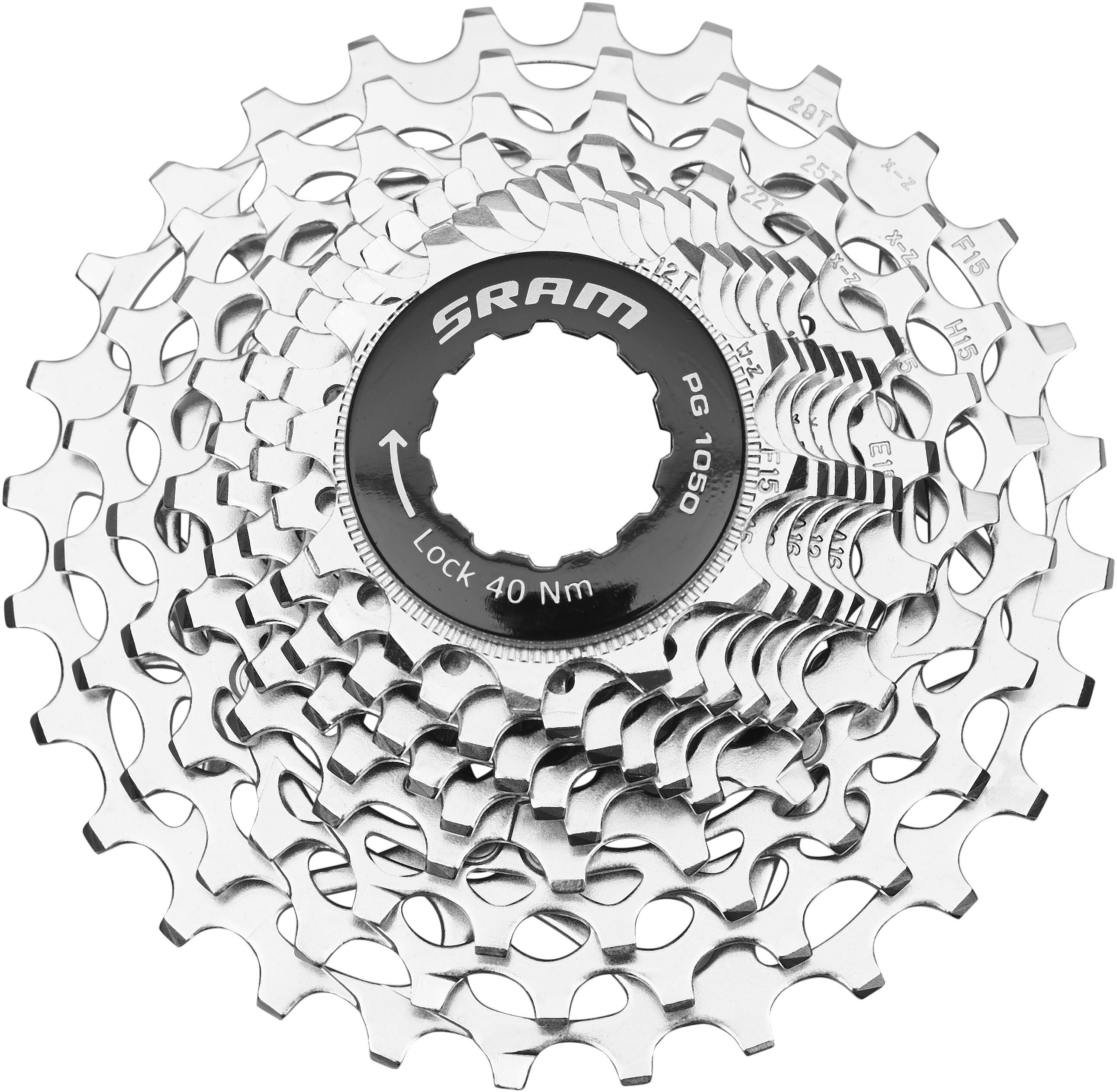 SRAM PG-1050 PowerGlide Cassette 12-27 teeth silver